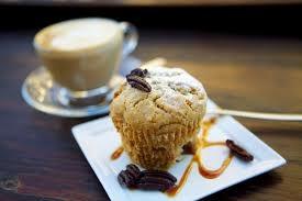 Pecannoten Muffins met blauwe bessen