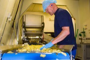 Op de boerderij gebakken chips